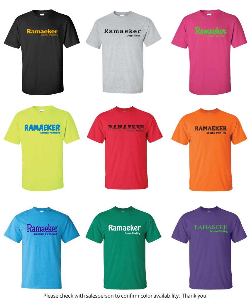 T-shirt options Ramaeker